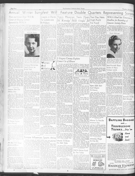 Daily Trojan, Vol. 28, No. 54, December 08, 1936