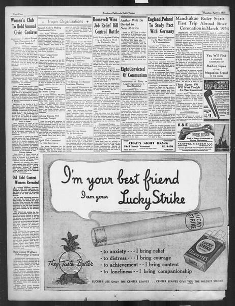 Daily Trojan, Vol. 26, No. 108, April 02, 1935