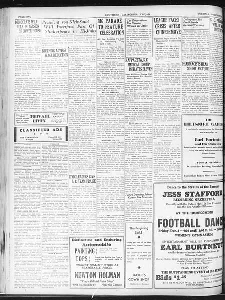 Daily Trojan, Vol. 23, No. 51, November 24, 1931