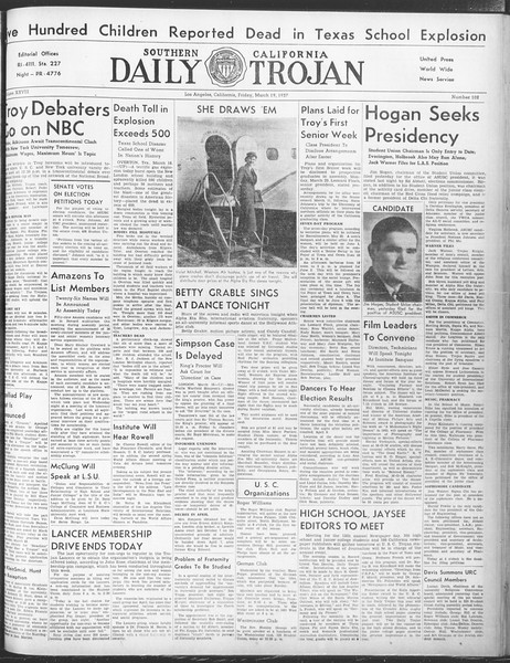 Daily Trojan, Vol. 28, No. 102, March 19, 1937