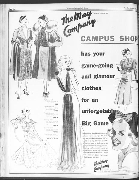 Daily Trojan, Vol. 28, No. 41, November 17, 1936