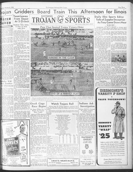 Daily Trojan, Vol. 28, No. 13, October 06, 1936