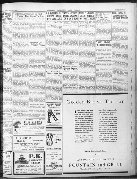 Daily Trojan, Vol. 22, No. 41, November 07, 1930