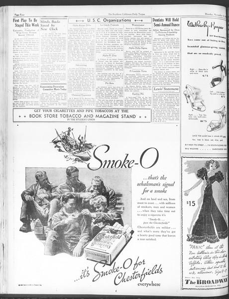 Daily Trojan, Vol. 28, No. 40, November 16, 1936