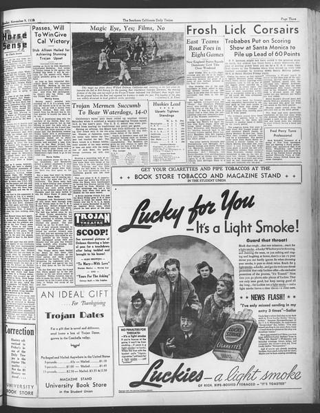 Daily Trojan, Vol. 28, No. 36, November 09, 1936