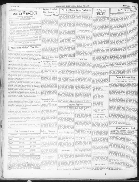 Daily Trojan, Vol. 22, No. 153, May 28, 1931