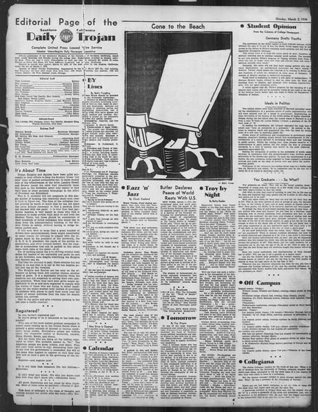 Daily Trojan, Vol. 27, No. 89, March 02, 1936