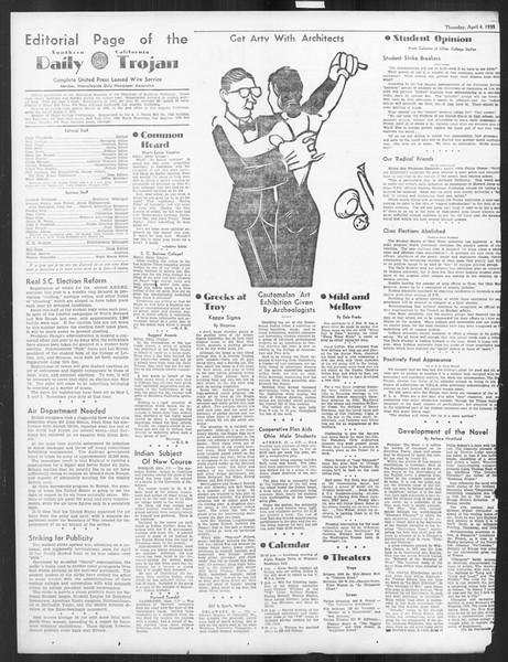 Daily Trojan, Vol. 26, No. 110, April 04, 1935