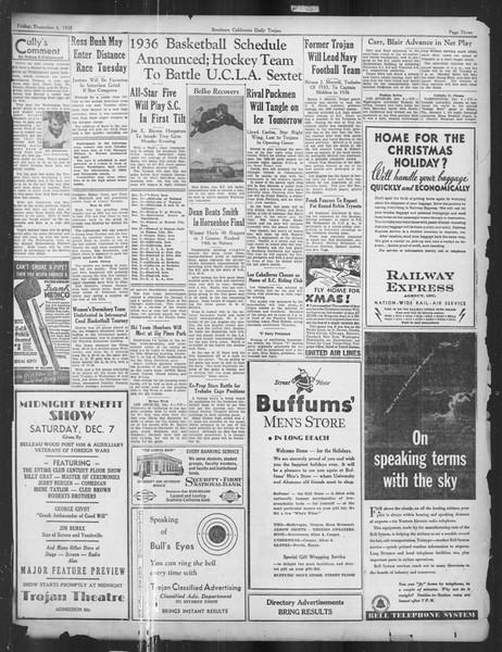 Daily Trojan, Vol. 27, No. 52, December 06, 1935