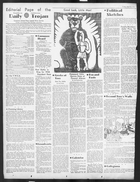 Daily Trojan, Vol. 26, No. 125, April 26, 1935