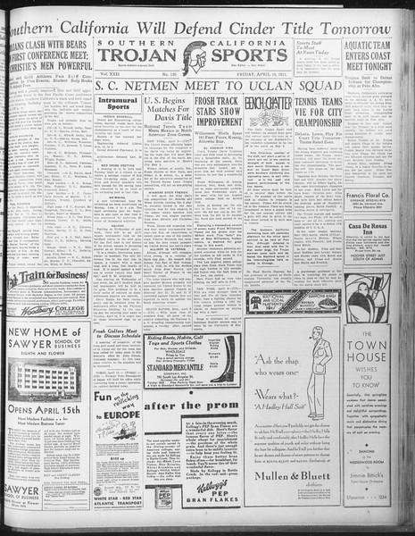 Daily Trojan, Vol. 22, No. 120, April 10, 1931