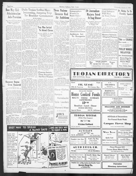 Daily Trojan, Vol. 27, No. 9, October 02, 1935