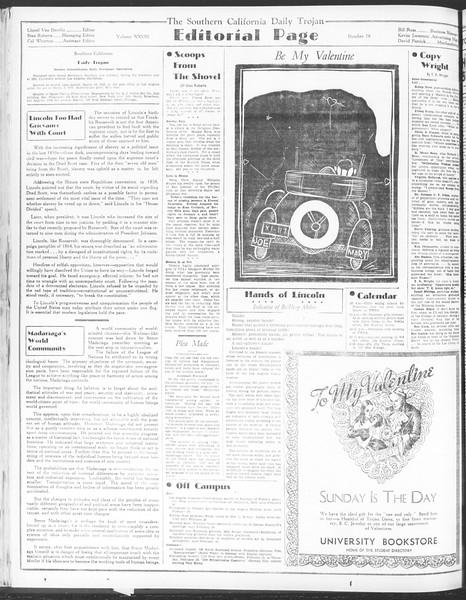 Daily Trojan, Vol. 28, No. 78, February 12, 1937