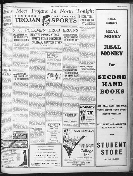 Daily Trojan, Vol. 23, No. 75, January 15, 1932