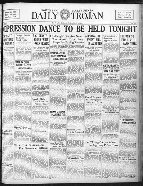 Daily Trojan, Vol. 23, No. 101, March 04, 1932