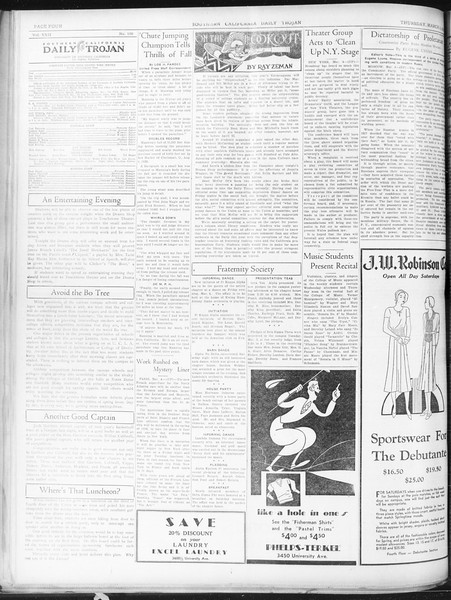 Daily Trojan, Vol. 22, No. 100, March 05, 1931