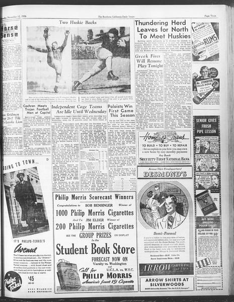 Daily Trojan, Vol. 28, No. 38, November 12, 1936