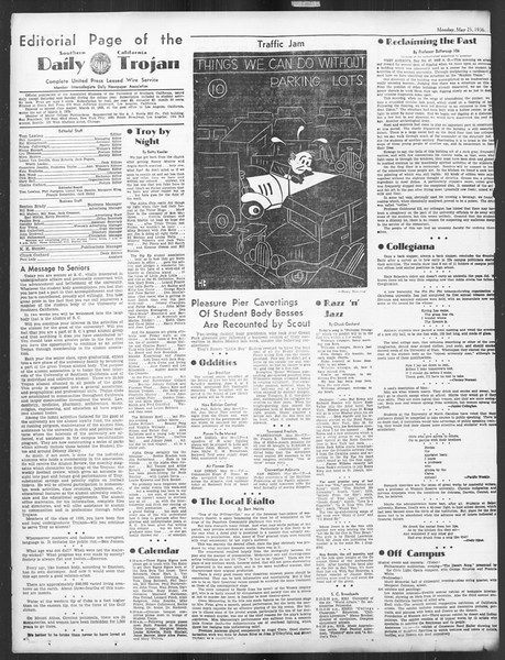 Daily Trojan, Vol. 27, No. 143, May 25, 1936