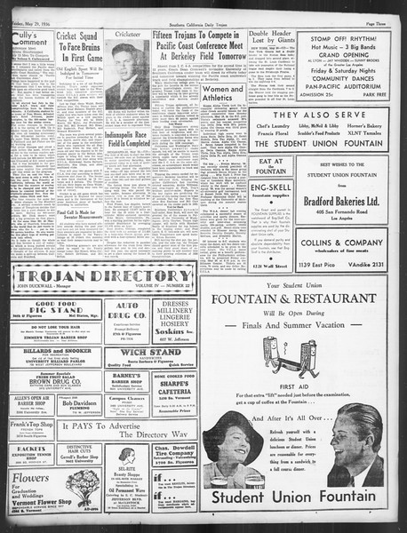 Daily Trojan, Vol. 27, No. 146, May 29, 1936