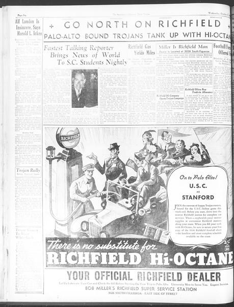 Daily Trojan, Vol. 28, No. 24, October 21, 1936