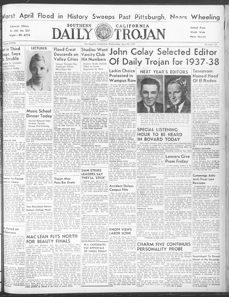Daily Trojan, Vol. 28, No. 125, April 28, 1937
