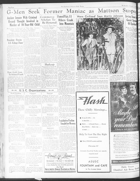 Daily Trojan, Vol. 28, No. 65, January 13, 1937