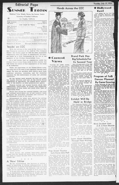Summer Session Trojan, Vol. 14, No. 11, July 23, 1935