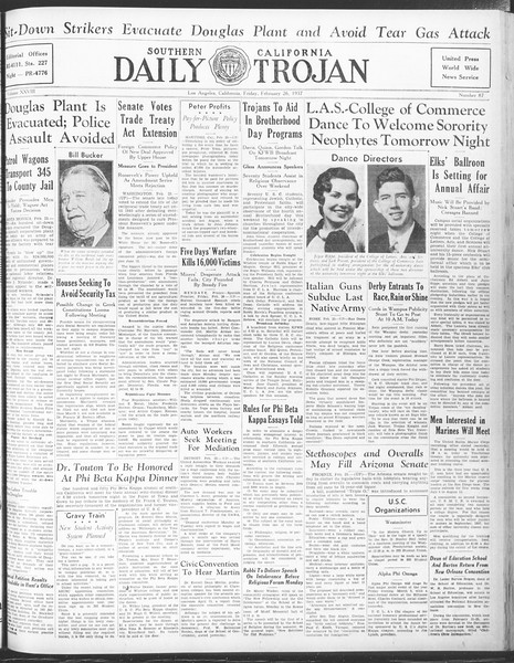 Daily Trojan, Vol. 28, No. 87, February 26, 1937