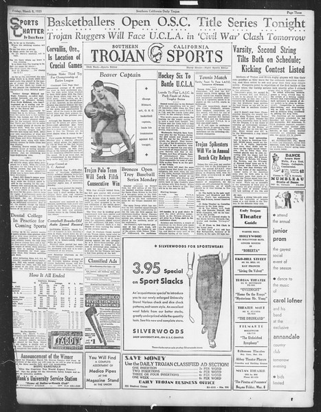 Daily Trojan, Vol. 26, No. 91, March 08, 1935