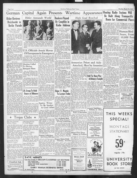 Daily Trojan, Vol. 26, No. 97, March 18, 1935
