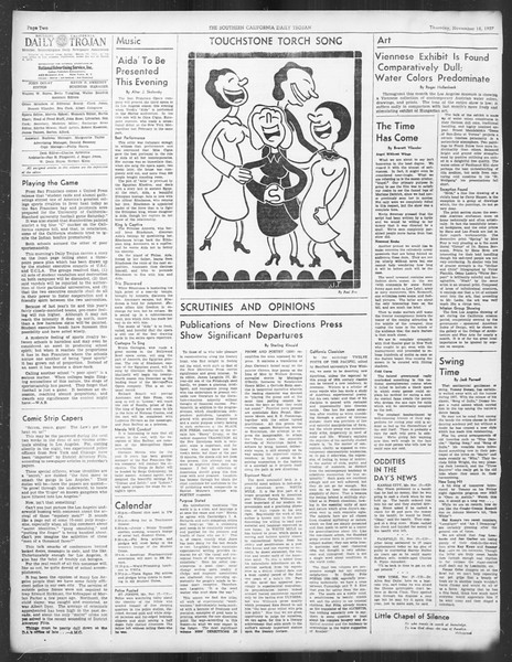 Daily Trojan, Vol. 29, No. 43, November 18, 1937