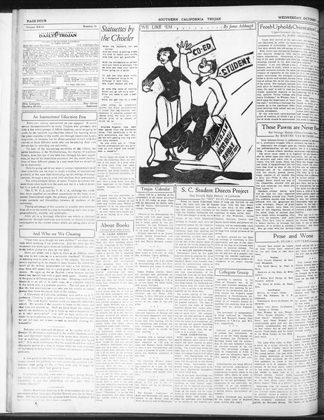 Daily Trojan, Vol. 23, No. 19, October 07, 1931