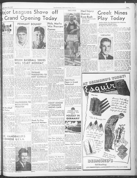 Daily Trojan, Vol. 28, No. 119, April 20, 1937