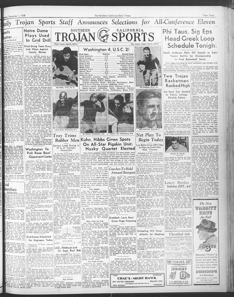 Daily Trojan, Vol. 28, No. 49, December 01, 1936