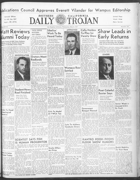 Daily Trojan, Vol. 28, No. 130, May 05, 1937