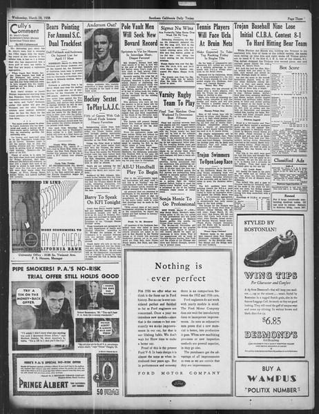 Daily Trojan, Vol. 27, No. 101, March 18, 1936