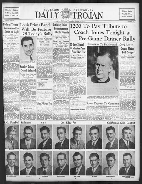 Daily Trojan, Vol. 27, No. 24, October 23, 1935