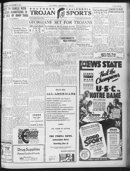 Daily Trojan, Vol. 23, No. 60, December 09, 1931