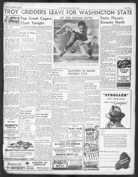 Daily Trojan, Vol. 29, No. 29, October 28, 1937