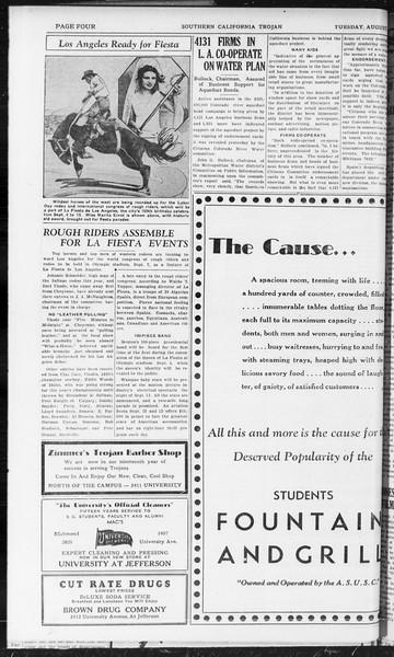 Southern California Trojan, Vol. 10, No. 17, August 18, 1931