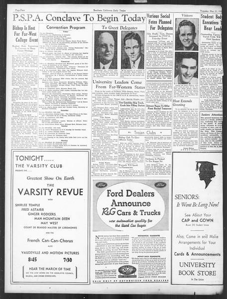 Daily Trojan, Vol. 27, No. 141, May 21, 1936