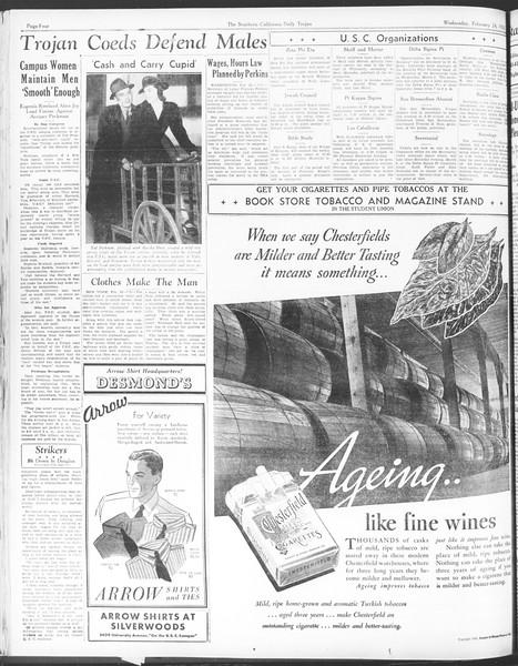Daily Trojan, Vol. 28, No. 85, February 24, 1937