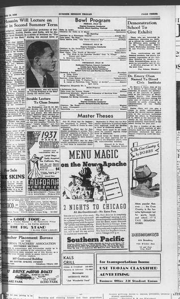 Summer Session Trojan, Vol. 15, No. 10, July 24, 1936