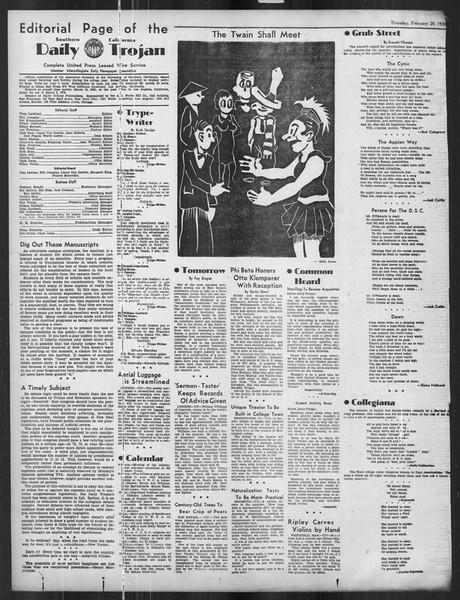 Daily Trojan, Vol. 27, No. 82, February 20, 1936