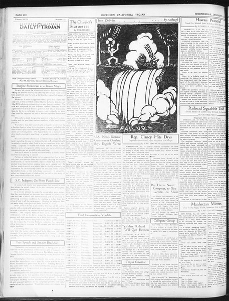 Daily Trojan, Vol. 23, No. 73, January 13, 1932