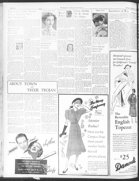 Daily Trojan, Vol. 28, No. 67, January 15, 1937