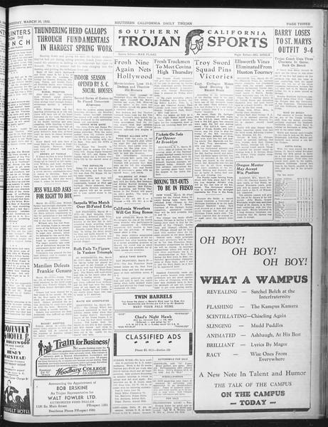 Daily Trojan, Vol. 23, No. 114, March 30, 1932