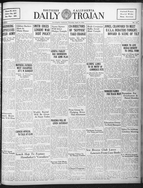 Daily Trojan, Vol. 23, No. 125, April 14, 1932