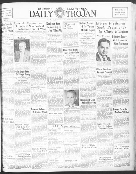 Daily Trojan, Vol. 28, No. 23, October 20, 1936