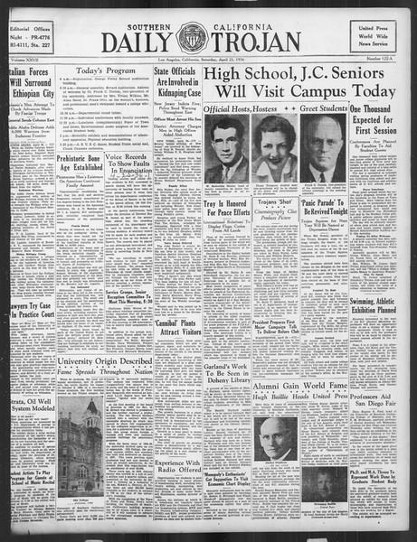 Daily Trojan, Vol. 27, No. 122-A, April 25, 1936